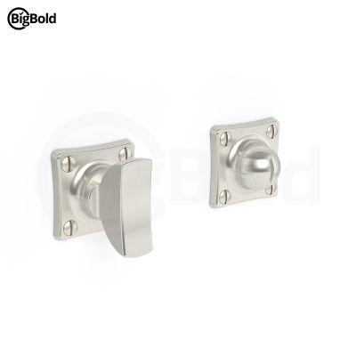 BigBold WC-/badkamersluiting vierkant rozet geborsteld nikkel (BB02.0301.00)