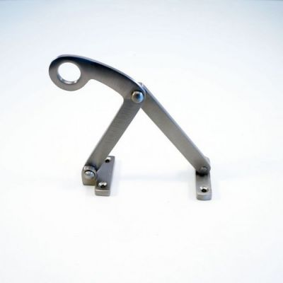 Raamuitzetter klapraam geborsteld nikkel (RU-KLAP-GN)