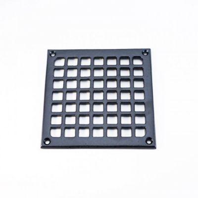 Ventilatierooster vierkant 140x140 MM zwart (VR-VK-140-140-Z)