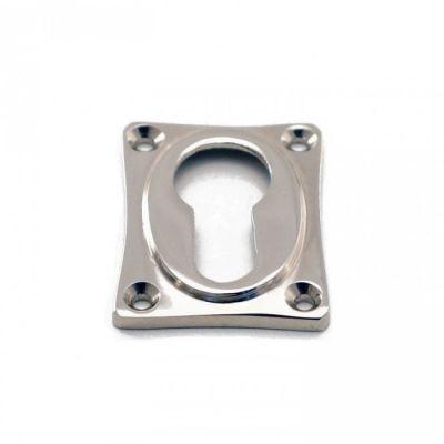Rozet rechthoek cilinder blinkend nikkel (RZRH-CI-BN)