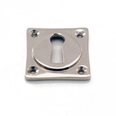 Rozet vierkant sleutel blinkend nikkel (RZV-SL-BN)