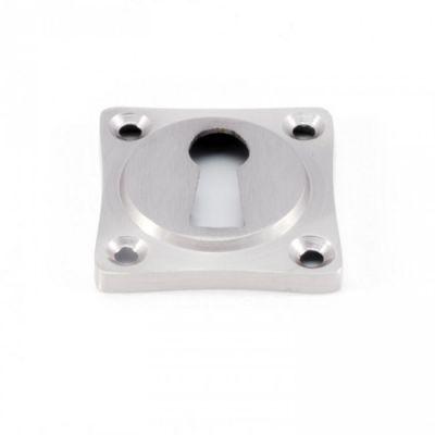 Rozet vierkant sleutel geborsteld nikkel (RZV-SL-GN)