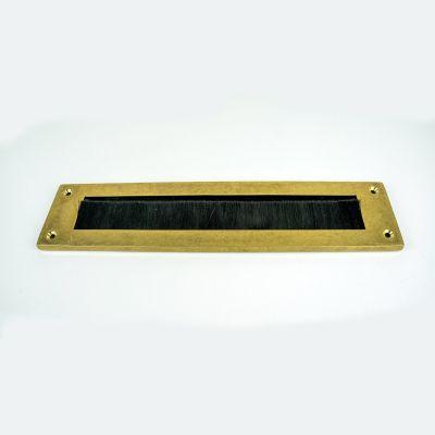 Tochtwering 325MM zwarte borstels brons antiek (TW-325MM-BA)