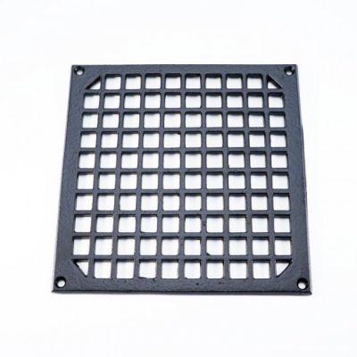 Ventilatierooster vierkant 200x200 MM zwart (VR-VK-200-200-Z)
